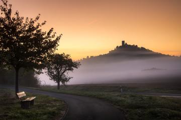Burg Gleiberg früh am Morgen