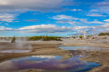 yellowstone Geysers and hot springs