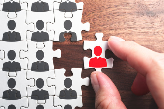 Selecting person for the job. Creating successful organization.Human resource management. Personnel, employment and recruitment concept.