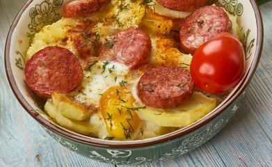 Hungarian  Rakott Krumpli