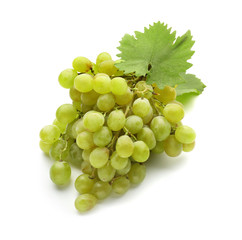 Fresh ripe juicy grapes on white background