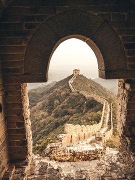 Great Wall of China in Jinshanling