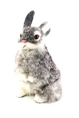 rabbit doll isolated on white background