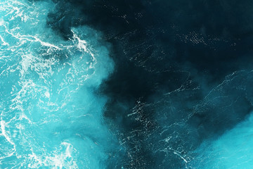 Wall Mural - blue deep sea water