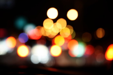 bokeh night light abstract background