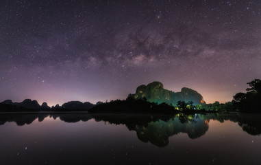 The Milky Way in southern of Thailand.