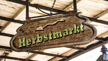 Schild 340 - Herbstmarkt