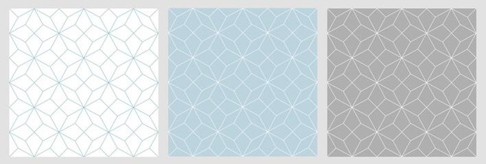 Motif raccord étoiles géometrique sur fond uni