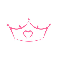 Princess Crown Icon. Vector Illustration.
