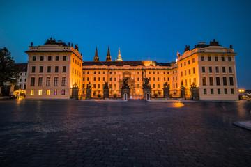 Der Hradschiner Platz in der Prager Altstadt, Tschechische Republik