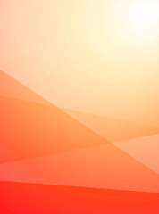 Wonderful bright background for the business orders, holidays and party. Orange Vertical Backdrop in Summer Sunny Mood.