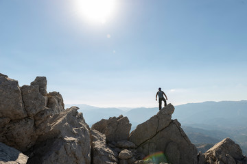amazing mountain climbing, new venues and successful man