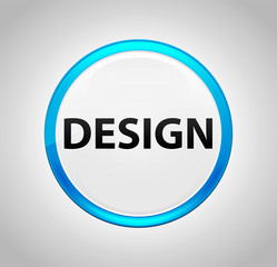Design Round Blue Push Button