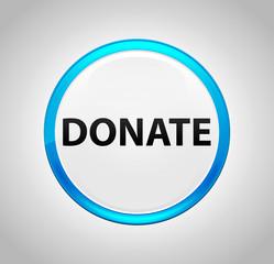 Donate Round Blue Push Button