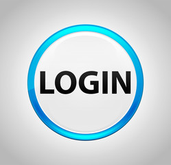 Login Round Blue Push Button