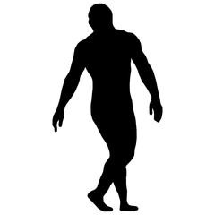 Wrestler isolated silhouette vector