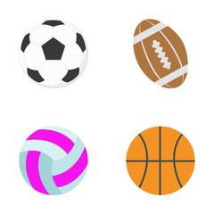 Sports balls. Vector illustration.