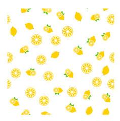 lemon seamless pattern on white background, Vector illustration