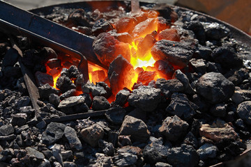 Forge, fiery coals