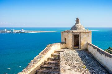 Old Setubal and modern Troia by Atlantic Ocean Fototapete