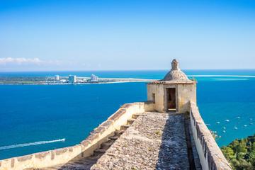 Old Setubal and modern Troia by Atlantic Ocean