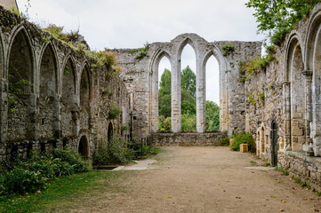 Old Abbaye Maritime de Beauport, in Paimpol, Cotes-d'Armor, Brittany, France
