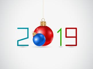 Happy new year 2019 icon