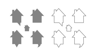 pin map house icon