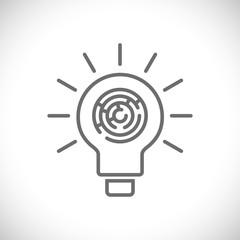 lightbulb maze icon