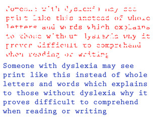 Dyslexia Example and description