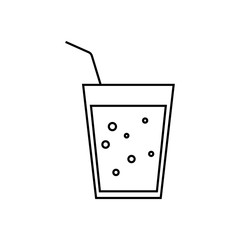 Cocktail glass line icon, outline vector sign, linear style pictogram isolated on white. Symbol, logo illustration.