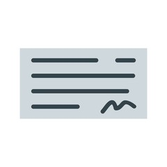 Cheque Ecommerce Flat  Icon