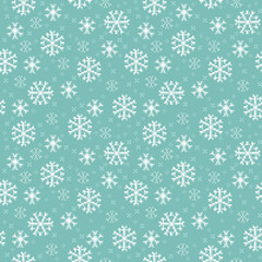 Vector seamless pattern with snowflakes in Pixel-Art style for background
