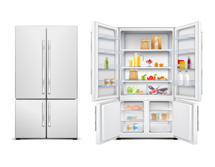 Family Fridge Realistic Set