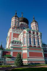 Panoramic view of St. Panteleimon Orthodox monastery in autumn