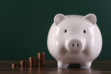 Piggy Bank With Growth Coins