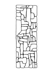 masonry wall texture. isolated on white background