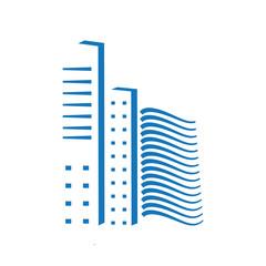 City skyline building pixels  illustration vector