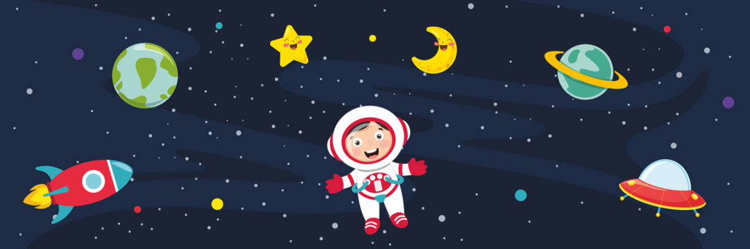 Vector Illustration Of Space Background