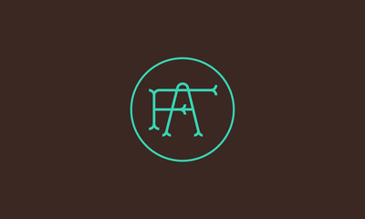 LETTER F AND A LOGO WITH CIRCLE FRAME FOR LOGO DESIGN OR ILLUSTRATION USE