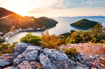 Picturesque panorama of amazing island Mljet in Croatia