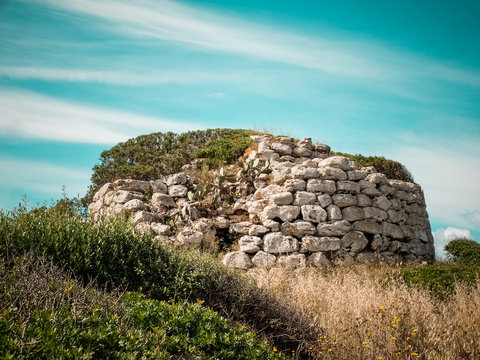 Nuraghe in Sardinia, Italy. ancient prehistoric construction.