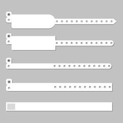 Wristband bracelet vector template
