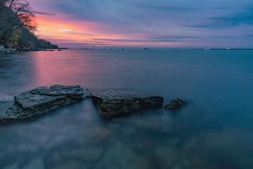 Beautiful sea with long exposure