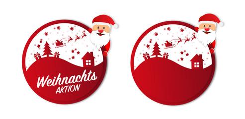 Weihnachten Button Sticker Weihnachtsangebote Aktion
