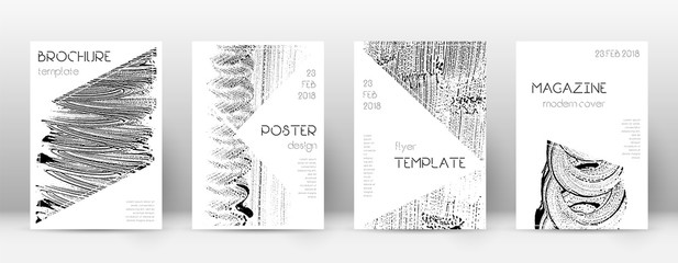 Cover page design template. Triangle brochure layo