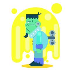 Pastel Frankenstein character (Halloween day)