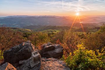 sunset over the landscape