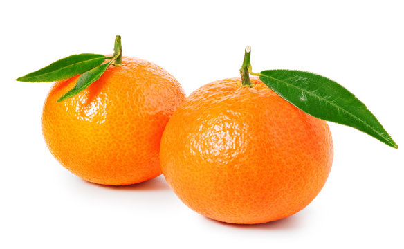 Tangerine or clementine isolated on white