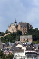 Marburg Ansicht vom Schloss mit Schloßberg und Altstadt